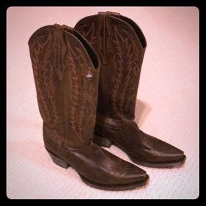 Cavendar's Dark Brown Cowboy Boots